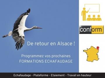 Formation échafaudage en Alsace