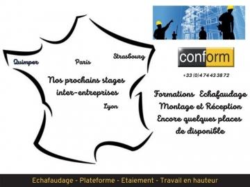 Formations inter-entreprises : nos prochains stages montage et réception d'échafaudages