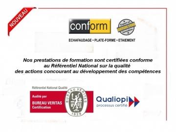 Conform certifié QUALIOPI par Bureau Veritas Certification