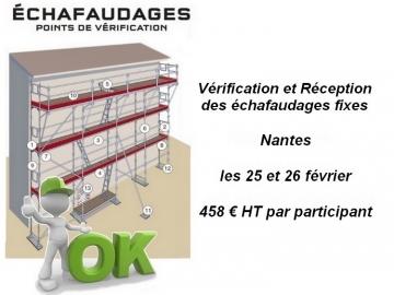 Formation Vérification et Réception des échafaudages fixes - Nantes -