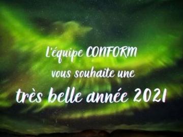 Nous vous souhaitons une bonne et heureuse année 2021