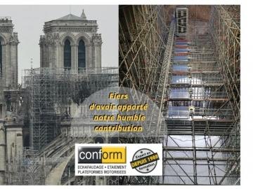 CONFORM présent sur le chantier de restauration de Notre Dame de Paris