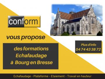 Formation montage et vérification des échafaudages fixes et roulants à Bourg en Bresse
