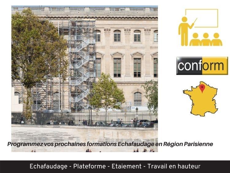 Formation Echafaudage en Région Parisienne
