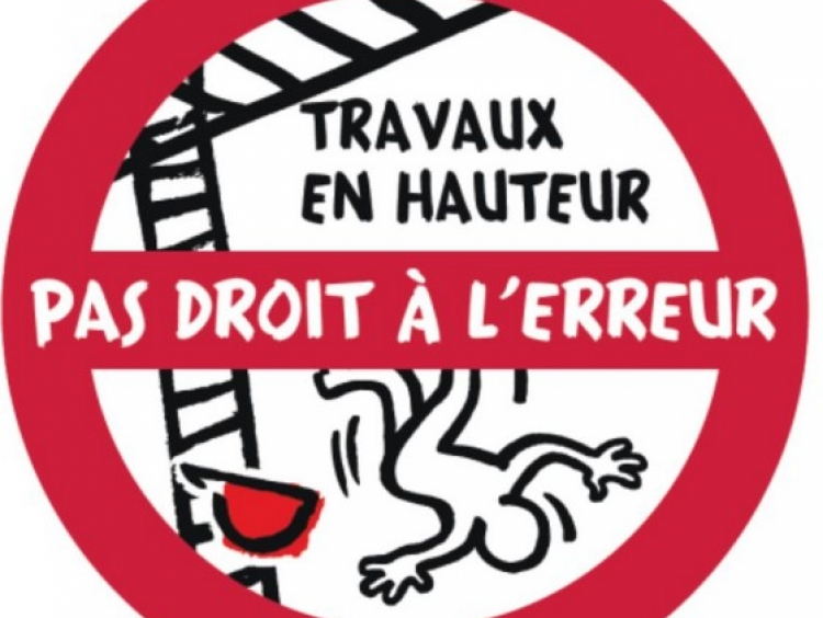 """La Direction du Travail relance la campagne """"Travaux en hauteur, pas droit à l'erreur"""""""